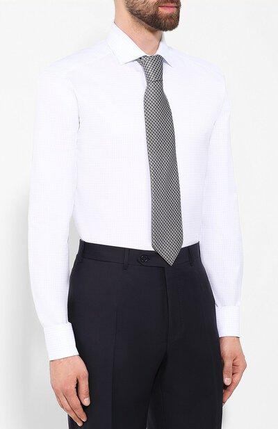 Хлопковая сорочка Zegna Couture 602072/9NS0LB - 4