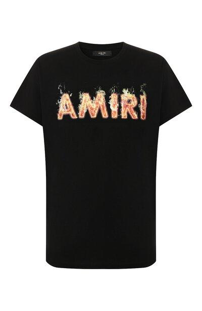 Хлопковая футболка Amiri F9M03111CJ - 1