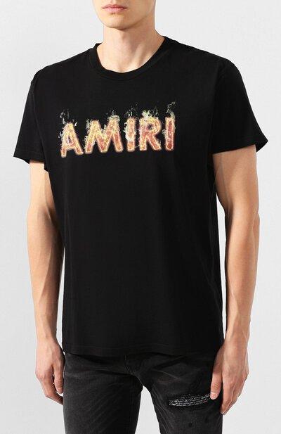Хлопковая футболка Amiri F9M03111CJ - 3