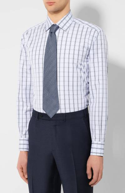 Хлопковая сорочка Brioni RCLU1R/P90A3 - 4