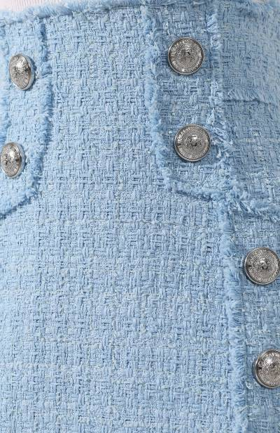 Твидовая юбка Balmain RF04057/C138 - 5