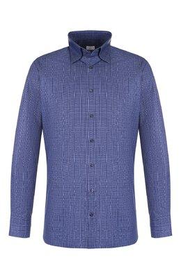 Хлопковая рубашка с воротником кент Zilli MFQ-10301-01088/RZ01