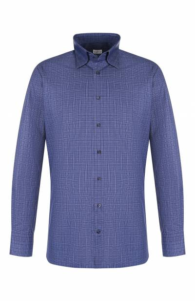 Хлопковая рубашка с воротником кент Zilli MFQ-10301-01088/RZ01 - 1