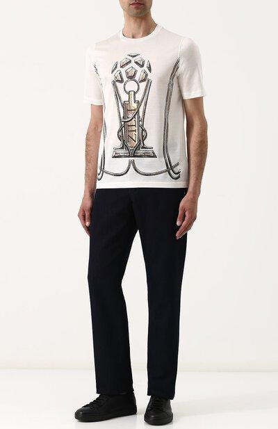Хлопковая футболка с принтом Zilli MBQ-NT910-WCUP2/MC01 - 2