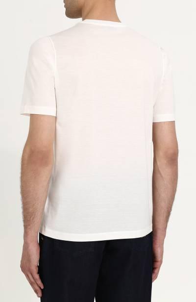 Хлопковая футболка с принтом Zilli MBQ-NT910-WCUP2/MC01 - 4