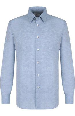 Рубашка из смеси льна и хлопка с воротником кент Brioni SC1317/P3121