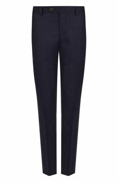 Шерстяные брюки прямого кроя Brunello Cucinelli ME226B1050 - 1