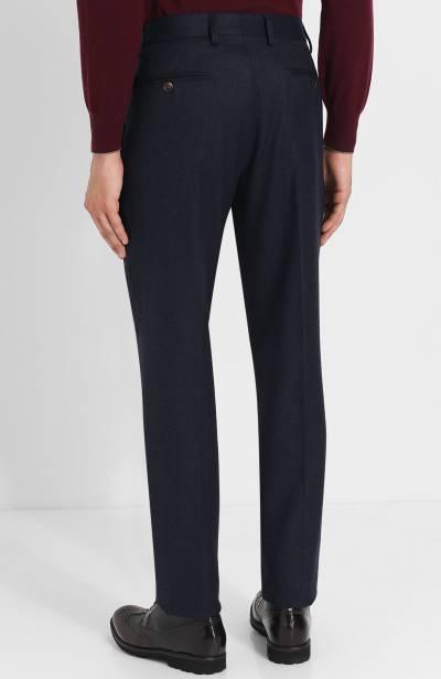 Шерстяные брюки прямого кроя Brunello Cucinelli ME226B1050 - 4