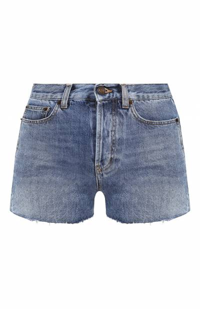 Джинсовые шорты с потертостями Saint Laurent 550228/Y969T - 1