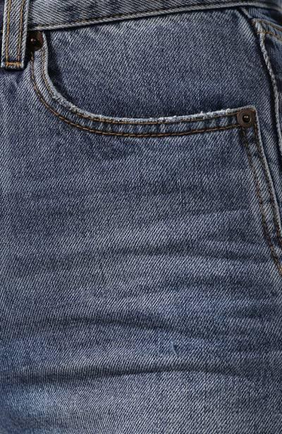 Джинсовые шорты с потертостями Saint Laurent 550228/Y969T - 5