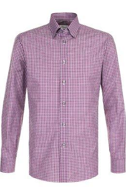 Хлопковая рубашка с воротником кент Brioni SC130N/P7058