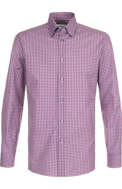 Хлопковая рубашка с воротником кент Brioni SC130N/P7058 - 1