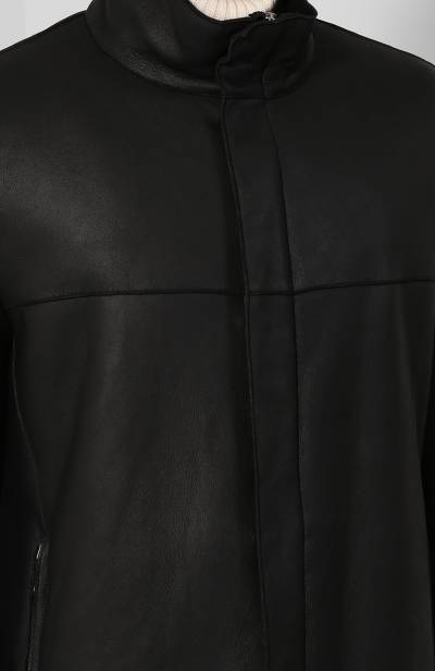 Дубленка на молнии с воротником-стойкой Giorgio Armani 1SL80P/1SP80 - 5