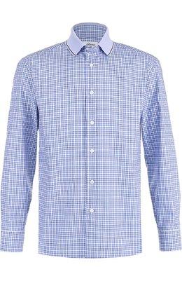 Хлопковая рубашка в клетку Brioni SC31/0603V