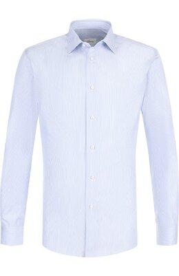Хлопковая сорочка с воротником кент Brioni RCLD0L/07091