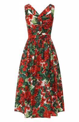 Хлопковое платье Dolce&Gabbana F6C8JZ/HS5CL