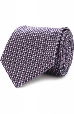 Шелковый галстук с узором Brioni 061E00/07449