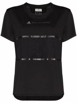 Adidas by Stella McCartney футболка с логотипом и вставками из коллаборации с Stella McCartney FS7577
