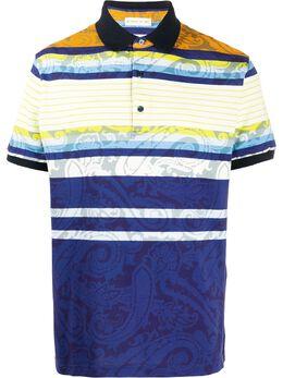 Etro рубашка-поло с принтом пейсли 1Y8004075