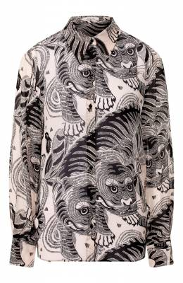 Рубашка из вискозы Dorothee Schumacher 649404/TIGER SKATE