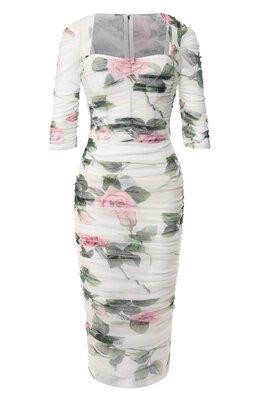 Хлопковое платье Dolce&Gabbana F6H0HT/FSEGH