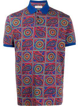 Etro рубашка-поло с принтом пейсли 1Y8004074
