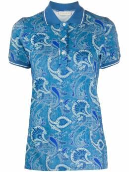 Etro рубашка-поло с короткими рукавами и цветочным принтом 137329632