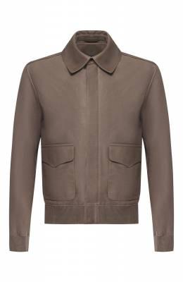 Кожаная куртка на молнии с отложным воротником Ralph Lauren 790716581