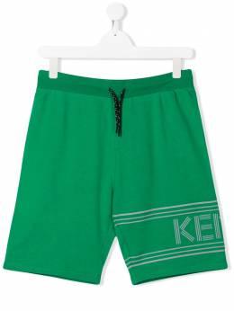 Kenzo Kids шорты с логотипом KQ25648
