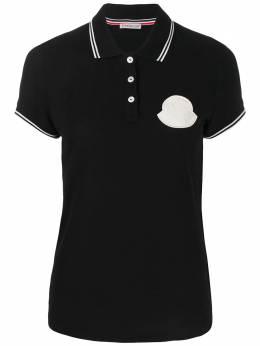 Moncler рубашка-поло с нашивкой-логотипом 8A70400V8003