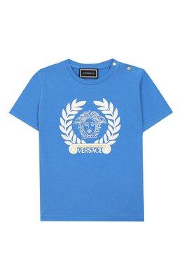 Хлопковая футболка Versace YB000145/YA00019