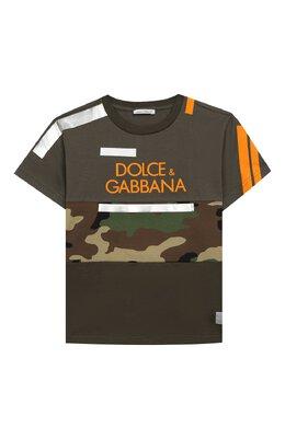 Хлопковая футболка Dolce&Gabbana L4JT9H/G7RIP/2-6