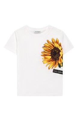 Хлопковая футболка Dolce&Gabbana L2JTAZ/G7TTI