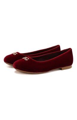 Бархатные балетки Dolce&Gabbana D10511/AA358/37-39