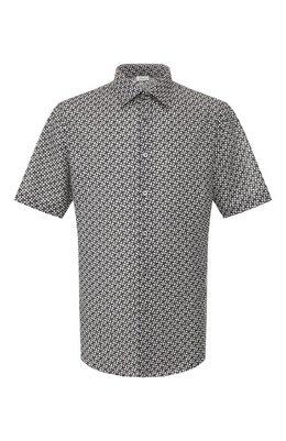 Рубашка из смеси хлопка и льна Brioni SCDH0L/P9052