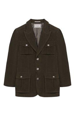Хлопковый пиджак Brunello Cucinelli BN4176261B
