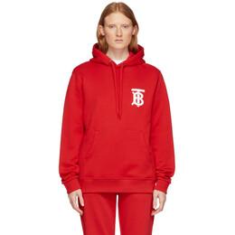 Burberry Red Landon Logo Hoodie 8025506