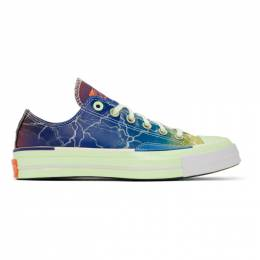 Converse Blue and Green Chuck 70 Pigalle Sneakers 165747C