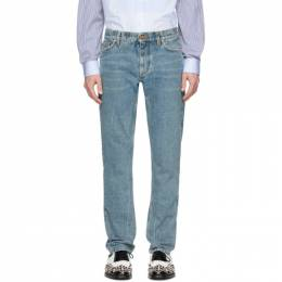 Burberry SSENSE Exclusive Blue Straight Jeans 8019425