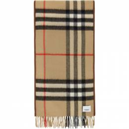 Burberry Brown and Beige Cashmere Quilted Scarf 8024510