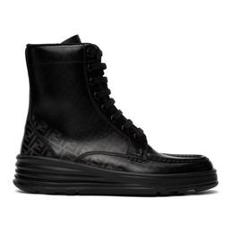Fendi Black Forever Fendi Lace-Up Boots 7U1324 A9SJ