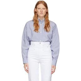 Isabel Marant Blue Silk Macao Shirt 20PCH0224-20P018I