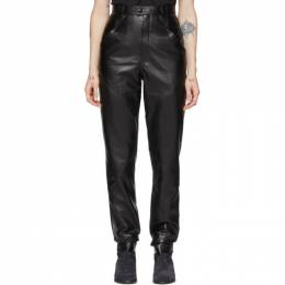 Isabel Marant Black Leather Xenia Pants PA1555-20P003I