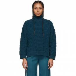 Fendi Blue Forever Fendi Embossed Sweater FZY874 A9WF