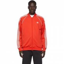 Adidas Originals Red SST Track Jacket Sweater FM3809