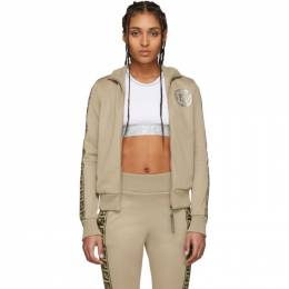 Fendi Beige Forever Fendi Elastic Band Zip-Up Sweater FAF069 AB4D