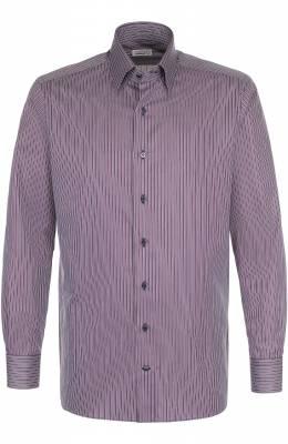 Хлопковая сорочка с воротником кент Zilli 6010026002