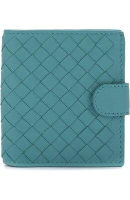 Кожаный кошелек с плетением intrecciato на кнопке Bottega Veneta 338103/V001N