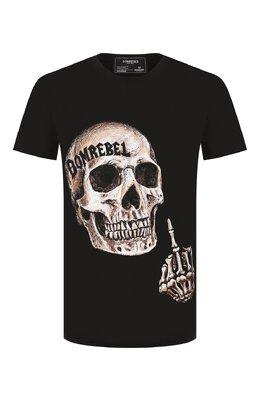 Хлопковая футболка Dom Rebel FLIP/REGULAR T-SHIRT