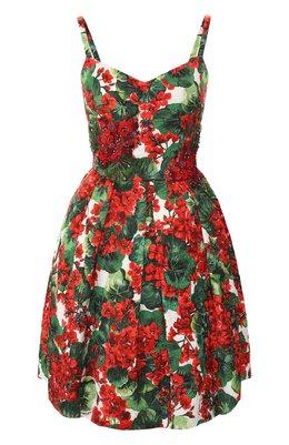 Платье из смеси хлопка и вискозы Dolce&Gabbana F67G0Z/HSMY7